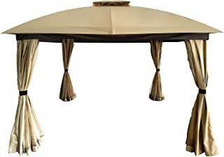 DikaSun 11'X11' Gazebos for Patios Dual Roof Gazebo and Mosquito Nettings and Curtains, Outdoor Gazebo Canopy Shelter Tent...