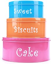 Hot Sale X755 Metal Cartoon Set of 3 Cake Biscuit Sweet Storage Tin Canister/Home Kitchen Gifts Food Jar/Container Sets