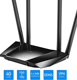 Cudy LT400 Router 4G LTE WiFi 300Mbps, Compatible con Todos los operadores, FDD y TDD, Qualcomm en el Interior, sin Necesidad de configuración, VPN, DDNS