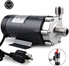 Ferroday Magnetic Drive Pump, Food Grade High Temperature Stainless Head Magnetic Pump 15RM with 1/2