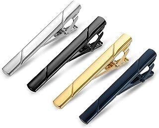 پین کراوات مردانه Roctee 4 بسته ، کلیپ های کراوات عادی بندهای گره دار نوار کراوات برای عروسی و زندگی روزمره تجاری ، شامل 4 رنگ نقره ای طلای سیاه