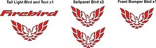 Graphicsplus123 Pontiac Firebird Combo Decal Set Big Savings (Red)