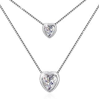 Swarovski Elements 925 Sterling Silver Pendant Necklace for girlfriend JRosee Jewelry JR109