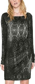 فستان بوني وومن محبوك طويل الأكمام للسيدات من ديسيجوال