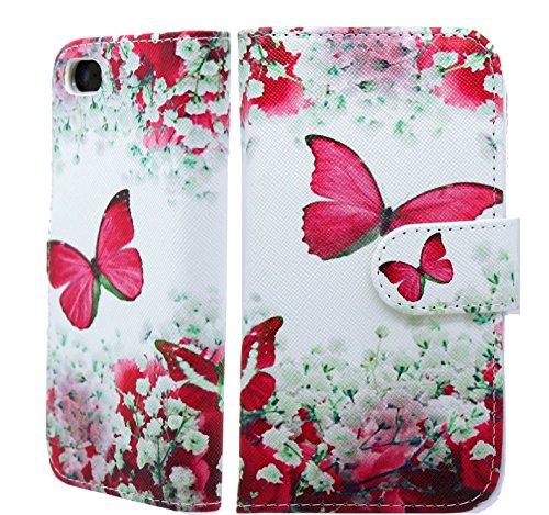 NWNK13 iPhone 4S Phone Case Floral Premium Leather Flip Case Book Wallet...