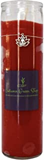 Red Candle - Lotus/Charm - Meditation, Spiritual, Yoga to Bring in Desire, Passion, Love, Vitality, Confidence and Adventure