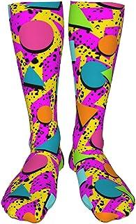 Funky Purple /& Yellow Cartoon Abstract Socks