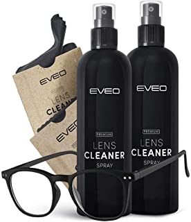 8oz (4oz X 2) Eyeglass cleaner spray - Glasses cleaner spray with Lens cleaner spray for eyeglasses | Eye glass cleaner, Glasses cleaning kit - eye glasses lens cleaner