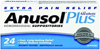 ANUSOL PLUS 24 Hemorrhoidal SUPPOSITORIES