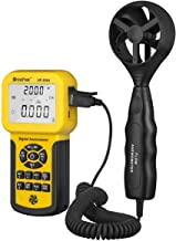 HOLDPEAK 856A Digital CFM Anemometer for Air Flow,Air Velocity,Temperature,Wind Speed Meter with Back Light,Data Hold and USB Connect
