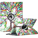 Fintie Rotating Case for New iPad 8th Gen (2020) / 7th Generation (2019) 10.2 Inch - [Built-in Pencil Holder] 360 Degree Rotating Smart Protective Stand Cover with Auto Sleep/Wake, Love Tree