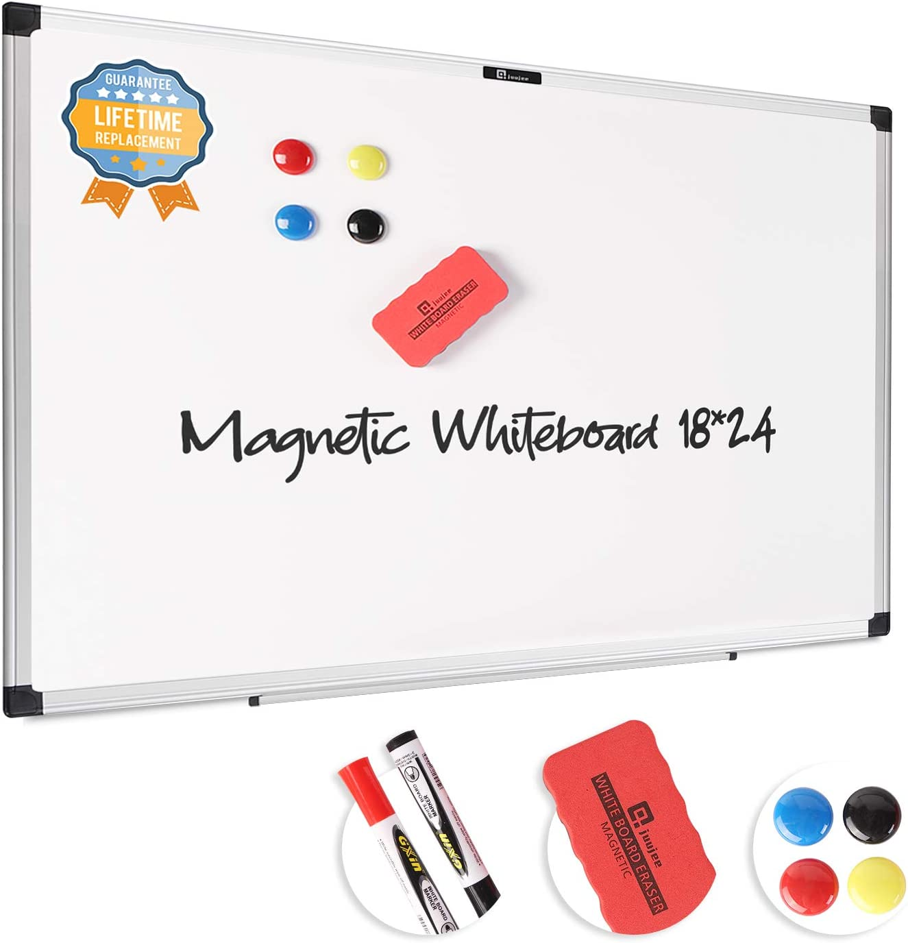 JuuJee 18x24 inch Dry Erase Mount Whiteboard New Free Shipping Wall White Magnetic Sacramento Mall