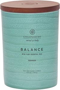 Chesapeake Bay Candle Mind & Body Serenity Scented Candle, Balance with Pure Essential Oils (Orange), Medium