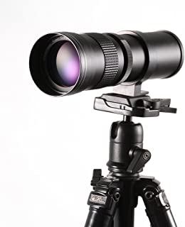 RUILI 420-800mm F/ 8.3-16 Zoom High Definition Teleobjektiv mit T Mount Adapter für Nikon D7500 D850 D3400 D7200 D5300 D30...