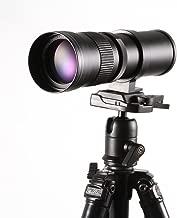 Ruili 420-800mm F/8.3-16 High Definition Telephoto Zoom Lens with T Mount Adapter for Nikon D3400 D3100 D3200 D5000 D5100 D5200 D7000 D7100 D3 D4 D40 D60 D70s D80 D90 D700 D800 and More DSLR Cameras