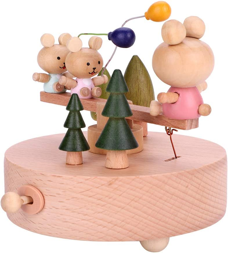 Wooden Musical Box Vintage Mechanical Music Handmade Manufacturer direct Sales of SALE items from new works delivery Movement Bo
