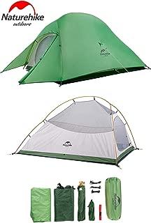Naturehike2019年版 テント 2人用 コンパクト 自立式 超軽量 4シーズン 防風 防水 CloudUp2アップグレード版 PU3000/4000(専用グランドシート/収納袋付)