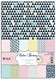 Toga PPK011 Géométrique Pastel Lot de 48 Feuilles imprimées Papier Multicolore 21...