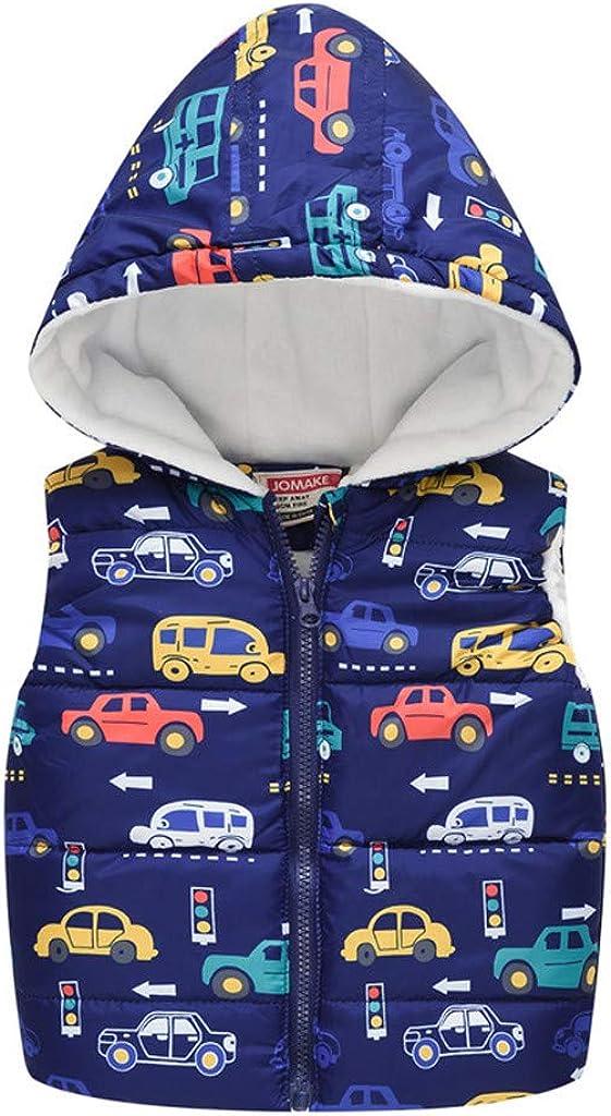 SHUBHU Baby Girls 67% OFF of fixed price Boys Minneapolis Mall Classic Prin Cotton Sleeveless Zip Jacket