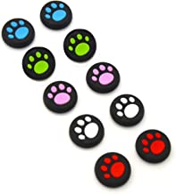 5 Pairs/10 PCS Silicone Cat Pad Joystick Thumb Stick Caps Cover for PS4 PS3 PS2 Xbox One/360 Game Controller