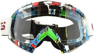 KKmoon Lunettes de Moto Casque Visi/ère Ext/érieure Motocross Cr/ânes Prot/égeant du Vent Vent Lunettes Goggle E114
