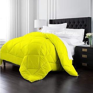 Home Spaces Ultra Soft Reversible Vibrant Color Microfiber Ac Comforter/Quilt/Duvet 250 GSM (Set of 1,Microfiber) (Single ...