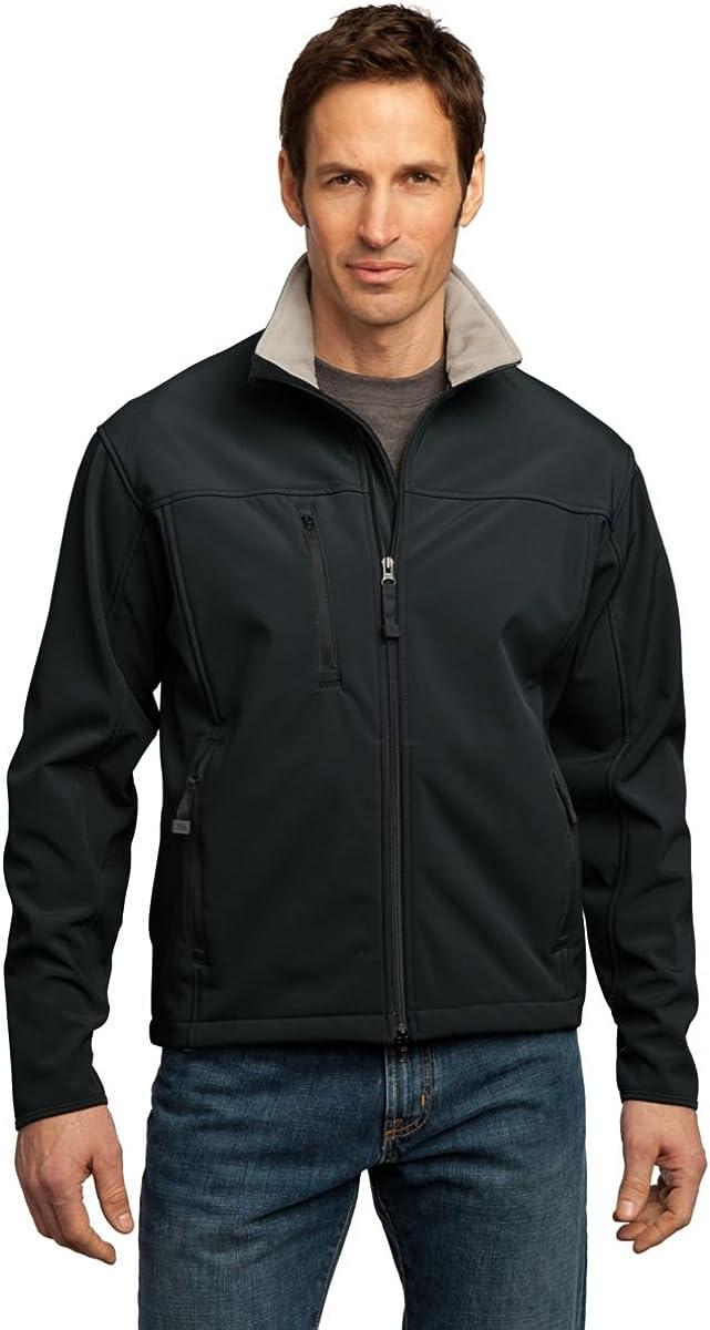 Port Authority Glacier Soft Shell Jacket, Black and Chrome, XL