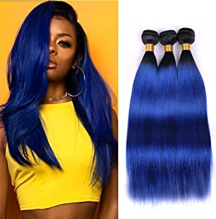 white to blue ombre hair