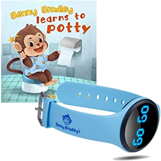 Benny Bradley`s Potty Training Watch, with Potty Training eBook - Musical and Vibration Interval Reminders, Water Resistan...