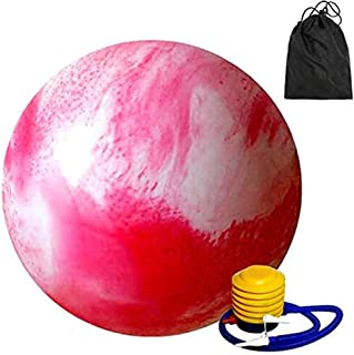 Pink Cloudy Color Anti Burst Gym Ball With Pump Eco-Friendly 65Cm Fitness Yoga Exercise Home Pregnancy Birthing Ball Extra...