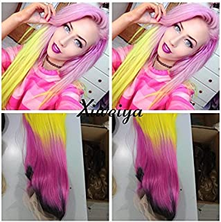 Best pink and yellow wig Reviews