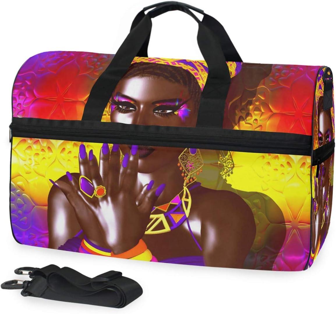 New Shipping Free Travel Duffel Free shipping / New Bag African Woman Waterproof Lightweight American