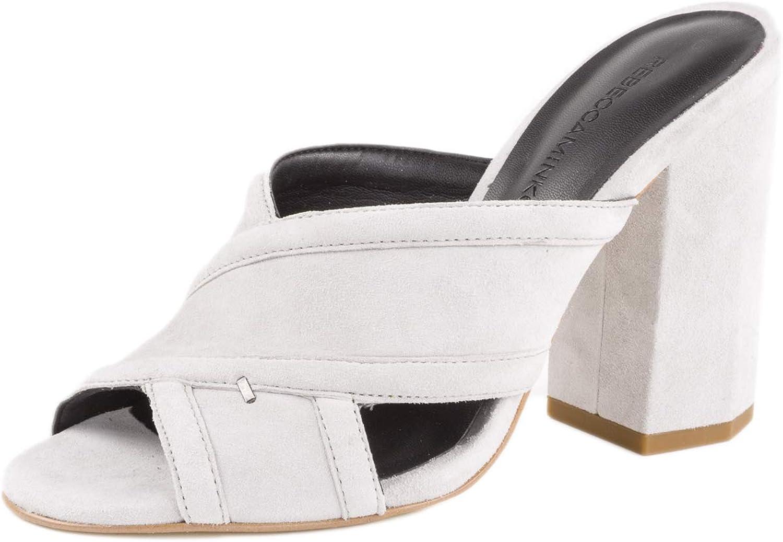 Rebecca Minkoff Women's Ryann Suede Slide Sandals US 5 Vapor