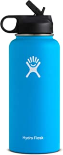 Hydro Flask Wide Mouth Water Bottle, Straw Lid - Multiple Sizes & Colors