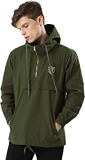 half zip pullover windbreaker