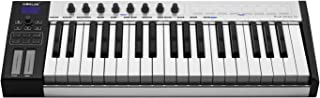 Decdeal WORLDE Blue whale 37 Portable USB MIDI Controller Keyboard 37 Semi-weighted Keys 8 RGB Backlit Trigger Pads LED Di...
