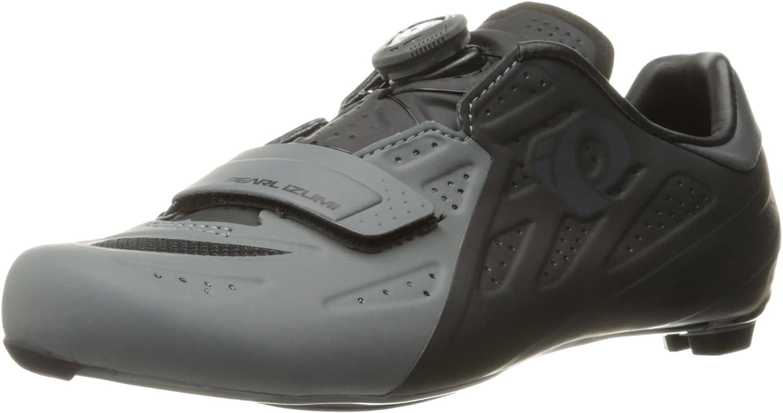 Pearl iZUMi Men's Elite Road V5 Cycling shoes, Black Shadow Grey, 43.5