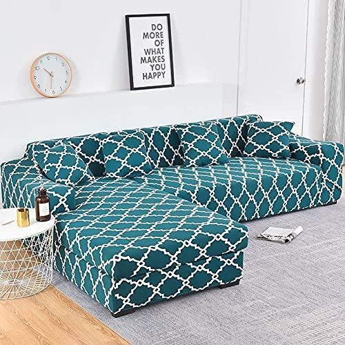 ASCV Bitte bestellen Sie 2 Stück Sofabezug, wenn es Sich um einen L-förmigen Sofa handelt. Geometrischer Sofabezug Elastischer Sofabezug für Wohnzimmer Haustiere A1 2-Sitzer