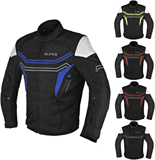 JAYEFO-ALPHA CYCLE GEAR MOTORCYCLE ALL SEASON JACKET (BLUE, X-LARGE)