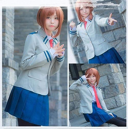 I TRUE ME Anime Cosplay My Hero Academia Boku no Hero School Girl Uniform Uraraka Costume