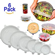 Jini Collection® Silicone Stretch Lids Flexible Covers for Rectangle Round Square - Bowls Dishes Plates Cans Jars Glassware and Mugs Cover