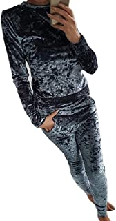 Women Suits Tracksuits, Winter Velour Sweatshirt +Pant Tracksuit Sport Sweat Suit Set 2 Piece Sweatsuits Jinjiums