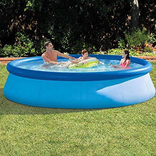 XIAOFEI Aufblasbarer Pool für Erwachsene Aufblasbarer Pool Aufblasbarer tiefer Pool, heißes Sommer-Außenpool-Equiment, einfach und sicher zu verwendender Solarpool