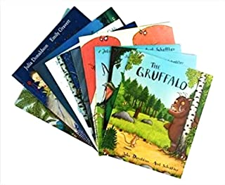 Julia Donaldson 10 Book Collection Set The Gruffalo The Gruffalo's Child The Snail and the Whale Room on the Broom What th...
