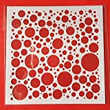 Stencils Hot 13cm Bubble Dot Circle DIY Craft Layering Stencils Painting Scrapbooking Stamping Embossing Album Paper Template F5170-5