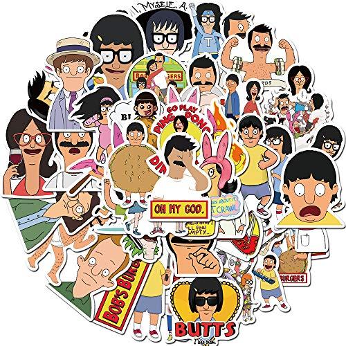 Funny Laptop Sticker 50pcs Pack Cartoon Vinyl...