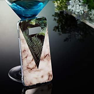 Quan Protection Cover Stylish and Personalized Anti-Fall Mobile Phone Case Protective Case Marble Pattern Soft TPU Case fo...