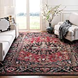 Safavieh Vintage Hamadan Collection VTH215A Oriental Traditional Persian Non-Shedding Stain Resistant Living Room Bedroom Area Rug, 9' x 12', Red / Multi