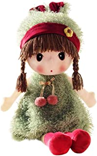 HWD Kawaii 17 inch Stuffed Plush Girl Toy Doll.Good Dolly Gift for Kids Baby Lover.(Green)