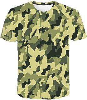Camiseta para Hombre Moda para Hombre Deportes Fitness 23 Camuflaje Camisa 3DT de Manga Corta Camisa para camuflaje-TXA1069_M